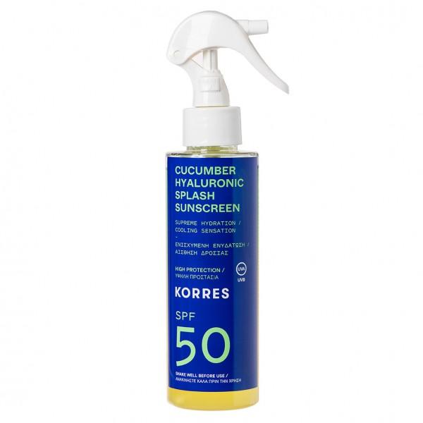 CUCUMBER HYALURONIC SPLASH SPF 50 2-Phasen-Sonnenschutzspray für Gesicht und Körper