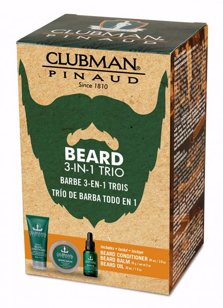Clubman Pinaud Beard 3-in-1 Trio