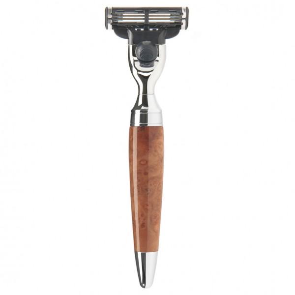 STYLO Rasierer Mach® 3 Griff Thuja-Holz