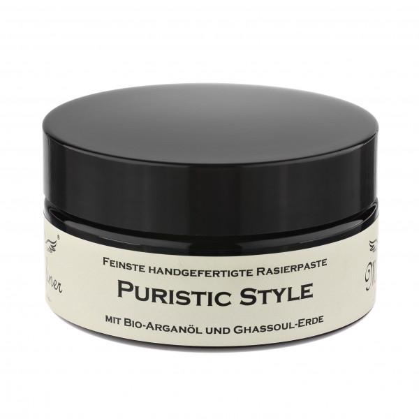 Puristic Style Rasierpaste ohne Duftstoffe im Glastiegel