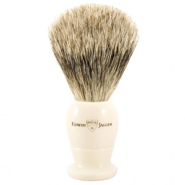 Best Badger Dachshaar Rasierpinsel Griff elfenbeinfarben