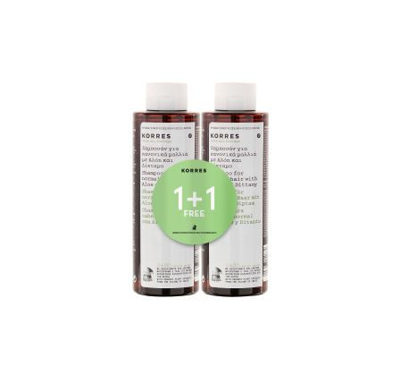 Korres Natural Products ´´Aloe & Dittany 1+1 Shampoo Set´´ Haarpflege
