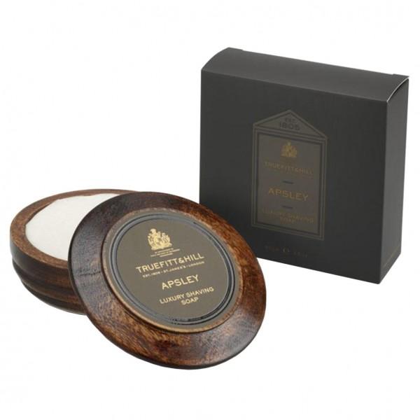 Apsley Luxury Shaving Soap in Wooden Bowl