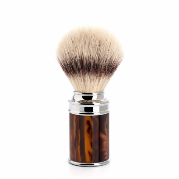 MÜHLE Rasierpinsel, Silvertip Fibre®, Griffmaterial Edelharz schildpatt