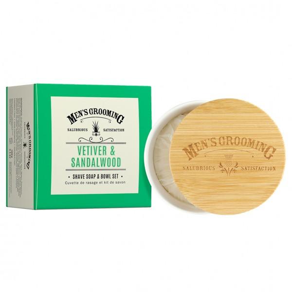 Vetiver & Sandalwood Shave Soap & Bowl Set