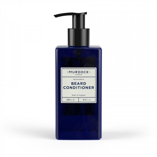 Beard Conditioner Bartpflege Blaue Flasche mit Pumpaufsatz Pumpspender Murdock London