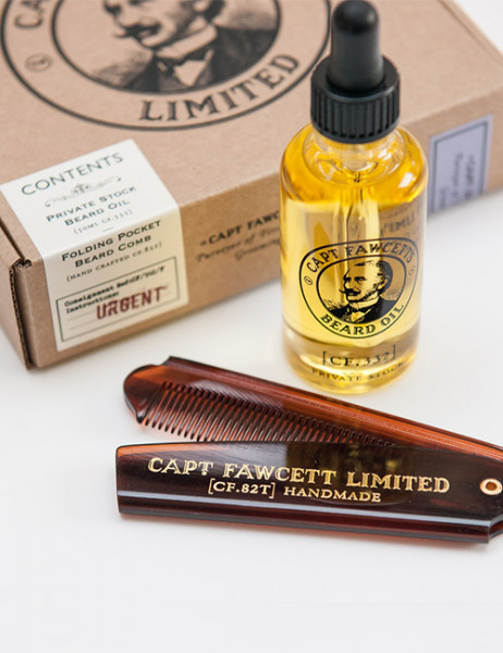Captain Fawcett's Private Stock Beard Oil Gift Set