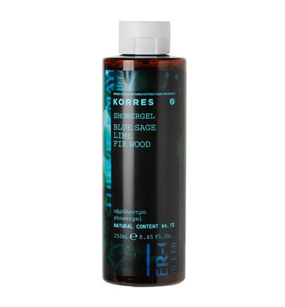 Korres Blue Sage Lime Fir Wood Shower Gel