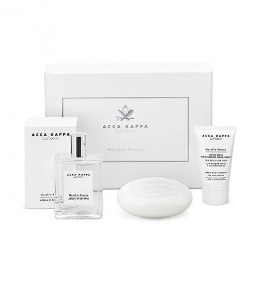 Acca Kappa White Moss Gift Set Eau de Cologne, Soap & Hand Cream