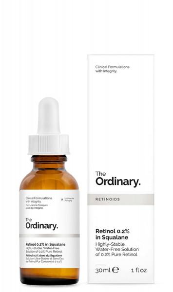 Retinol 0.2% in Squalane Wasserfreie Hautpflege Anti-Aging the ordinary