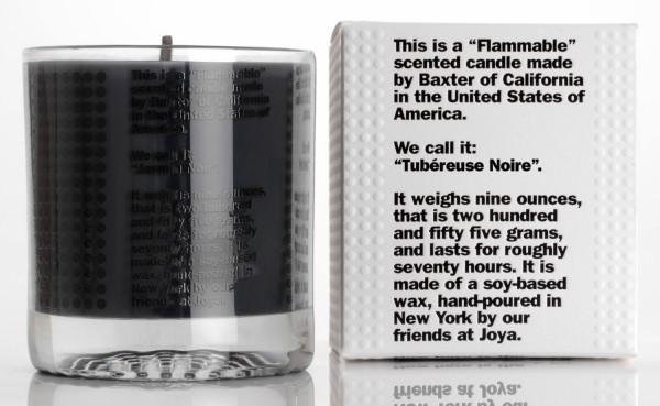 Candle Tubereuse Noir