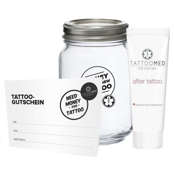 Spardose Small + Gutschein + After Tattoo