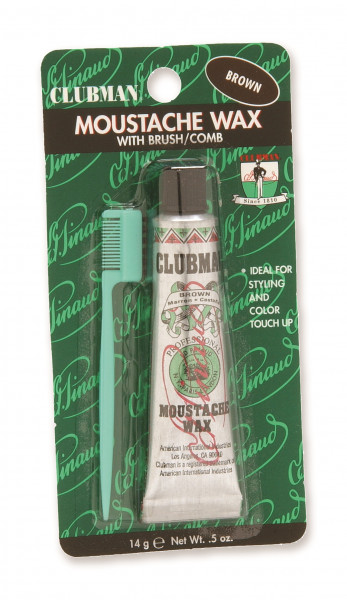 Clubman Pinaud Moustache Wax Brown