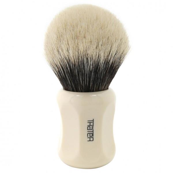 Rasierpinsel Silberspitze 2 Band 4125-6 Creme