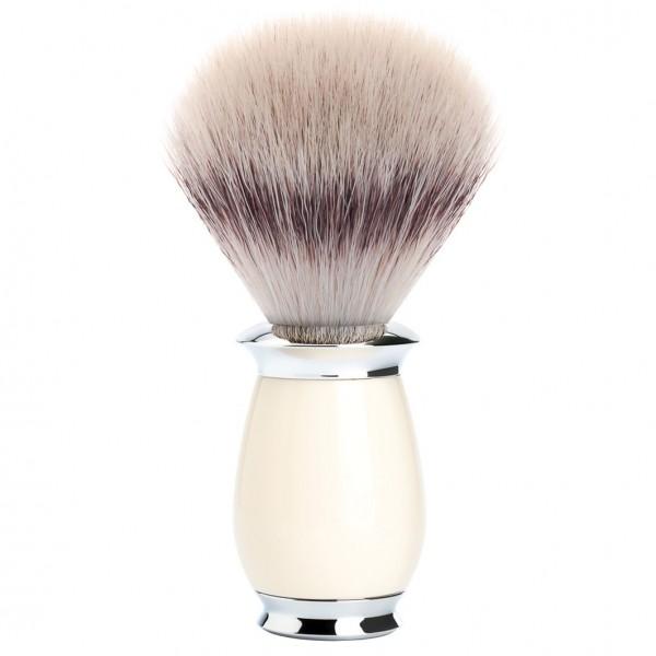 PURIST Rasierpinsel Silvertip Fibre® Griffmaterial Edelharz elfenbein