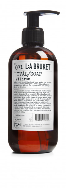 no 71 liquid soap wild rose la bruket
