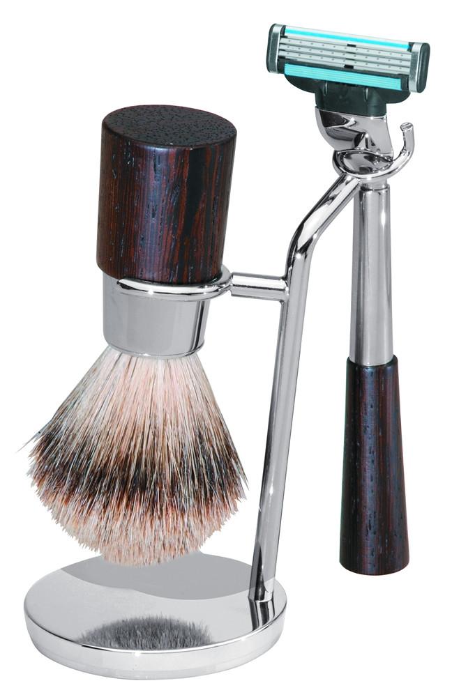Becker Manicure Shaving Shop Rasiersets Rasier-Set Wengeholz, Gillette Mach3, 3-teilig 1 Stk.
