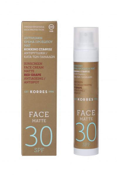 Korres Red Grape Sunscreen Face Cream Matte SPF 30