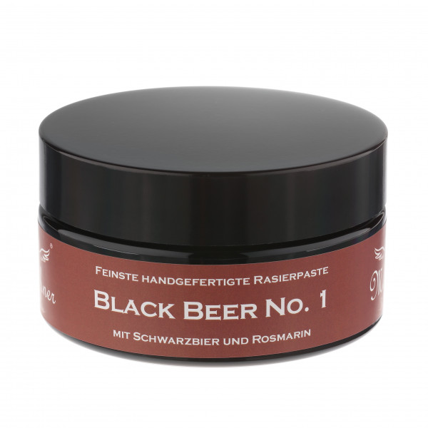 Black Beer No.1 Rasierpaste im Glastiegel
