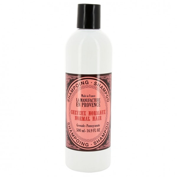 LA MANUFACTURE EN PROVENCE 98,7% natürliches Haarshampoo Granatapfel für normales Haar, 500ml