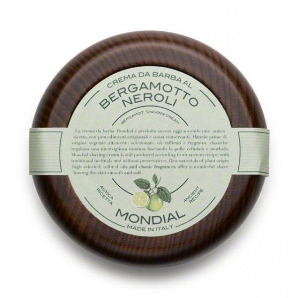 Mondial Rasiercreme im Holztiegel Bergamotto Neroli
