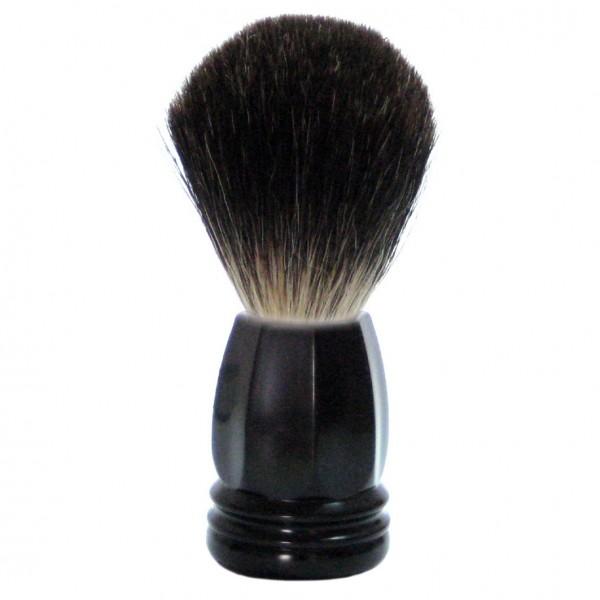 Rasierpinsel Kunststoff schwarz mit Stockhaar