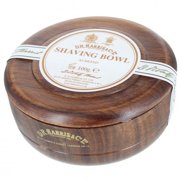 Almond Shaving Soap in Mahogany Bowl