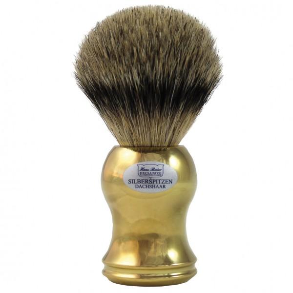 Dachshaar Silberspitz Rasierpinsel Gold