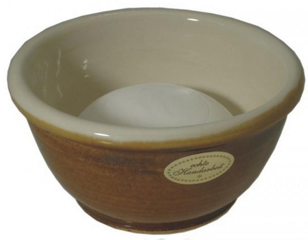 Keramik Rasierschale - braun