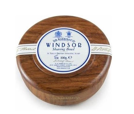 D.R. Harris Windsor Shaving Soap in Mahagony Bowl