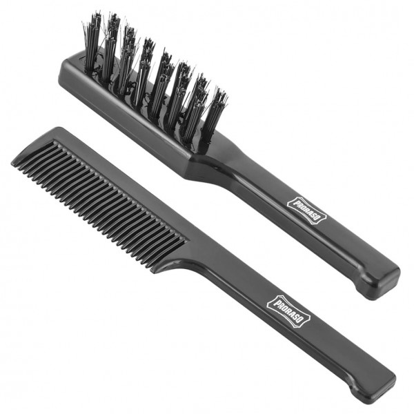 Old Style Moustache Brush Set