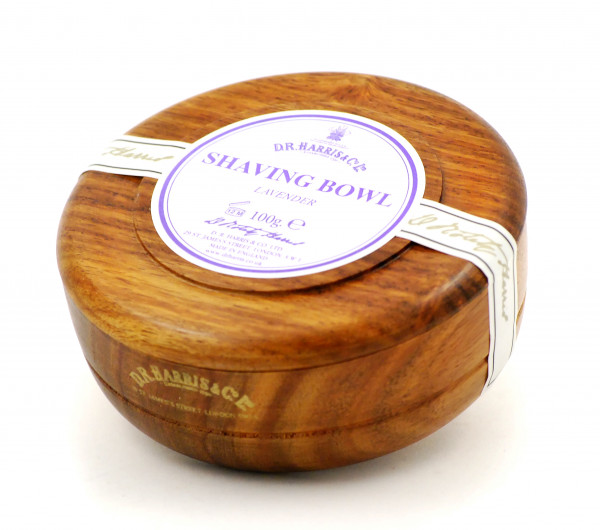 Lavender Shaving Soap in Mahogany Bowl