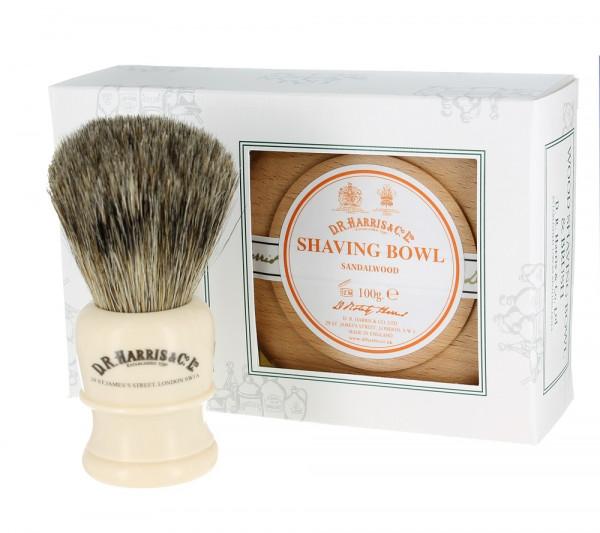 Sandalwood Shave Soap Set Beech von D.R. Harris