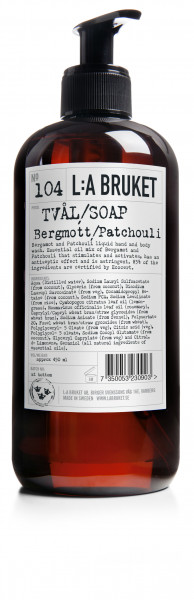 No. 104 Liquid Soap Bergamot/Patchouli