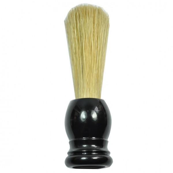Barbier-Rasierpinsel schwarz Schweineborste