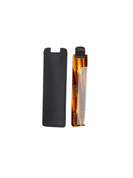 Comb with Black Leather Case