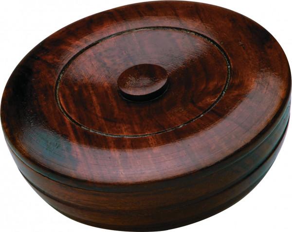 Sandalwood Herbal Shaving Soap Wood Bowl