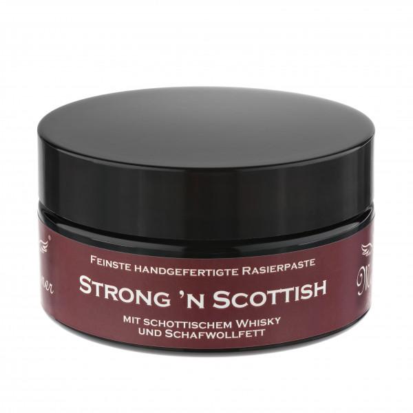 Strong'n Scottish Rasierpaste im Glastiegel