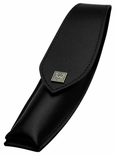 Etui für Rasiermesser - schwarzes Leder