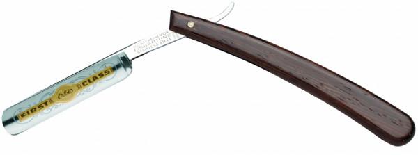 """Rasiermesser 4/8"""" - Griffschalen aus Wengeholz"""