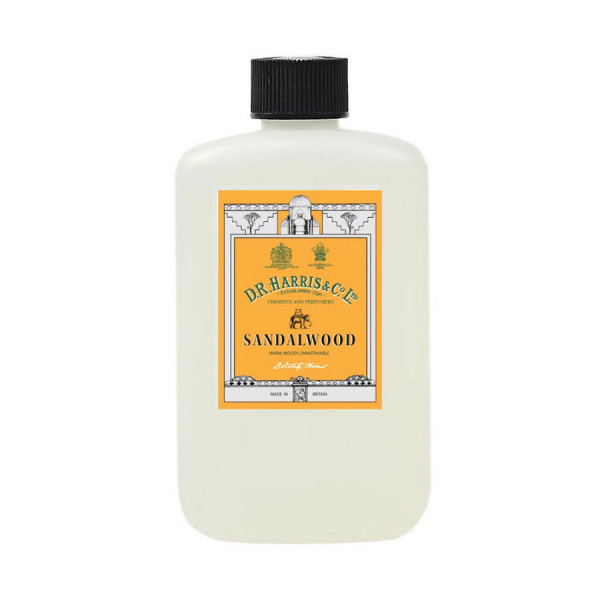D.R. Harris Sandalwood Aftershave Milk plastic bottle