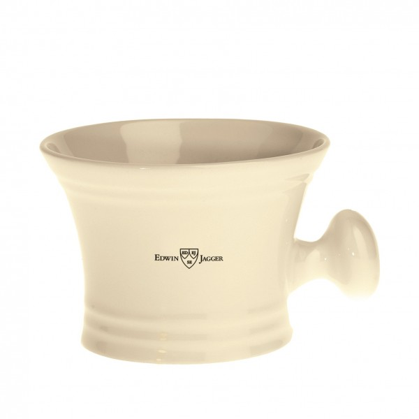 Edwin Jagger Ivory Porcelain Shaving Bowl with Handle