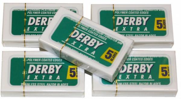 Rasierklingen Derby Extra (0,10 mm) im 5 x 5er Pack