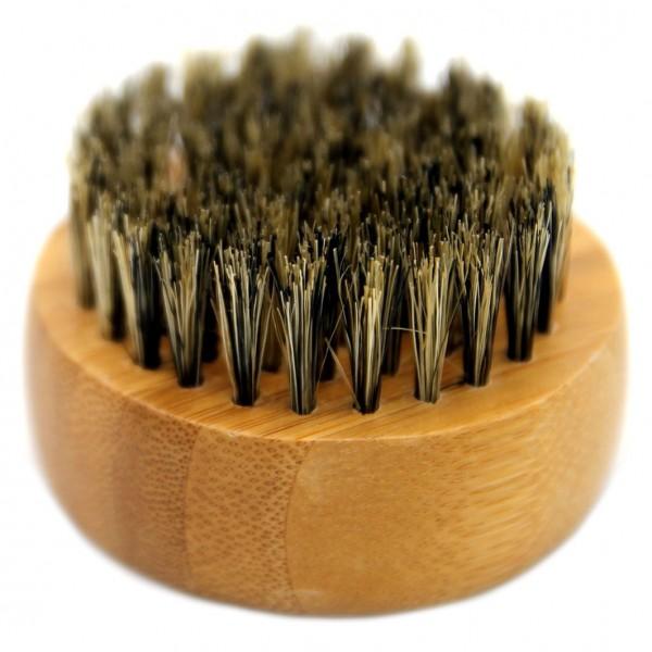 Bartbürste aus Bambus mit Wildschweinborsten