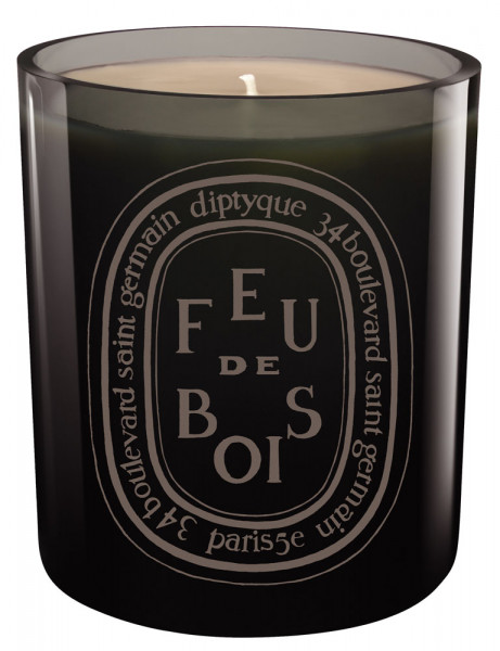 Feu de Bois Colored candle Grey