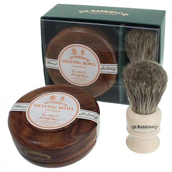 Sandalwood Shave Soap Set Mahogany
