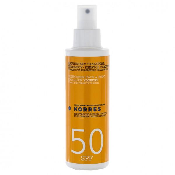YOGHURT Sonnenschutz Sprüh-Emulsion für Gesicht und Körper SPF50