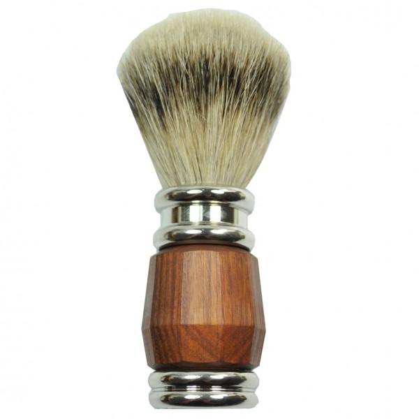 Rasierpinsel Silberspitze Grifffarbe Palisander/Silber