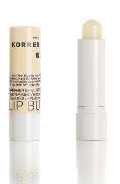 korres-natural-products-mandarin-lip-butter-stick-colourless-lippenpflegestift