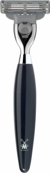 KOSMO 3-Klingen-Rasierer Griffmaterial Edelharz schwarz